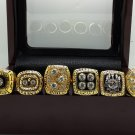 A Set Pittsburgh Steelers super bowl championship ring size 11 with wooden case