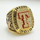 2010 Texas Rangers American League baseball championship ring size 11 US Solid