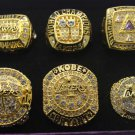 6P Los Angeles Lakers 2000 2001 2002 2009 2010 2016 Championship rings KOBE BRYANT size 10