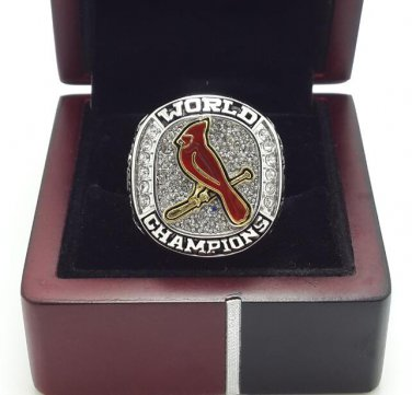 2011 St Louis Cardinals World Series Championship ring size 8-14 US + Wooden Box