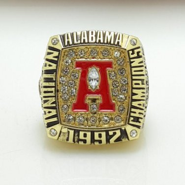 1992 Alabama Crimson NCAA National Championship ring size 11 US