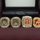 1973 1978 1979 1992 2009 2011 Alabama Crimson National Championship rings size 11 + Wooden Box