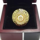 1985 Edmonton Oilers Stanley Cup Championship ring size 8-14 US+Wooden Case