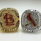 St Louis Cardinals 2006 2011 World Series Championship rings size 8-14 US 2PCS