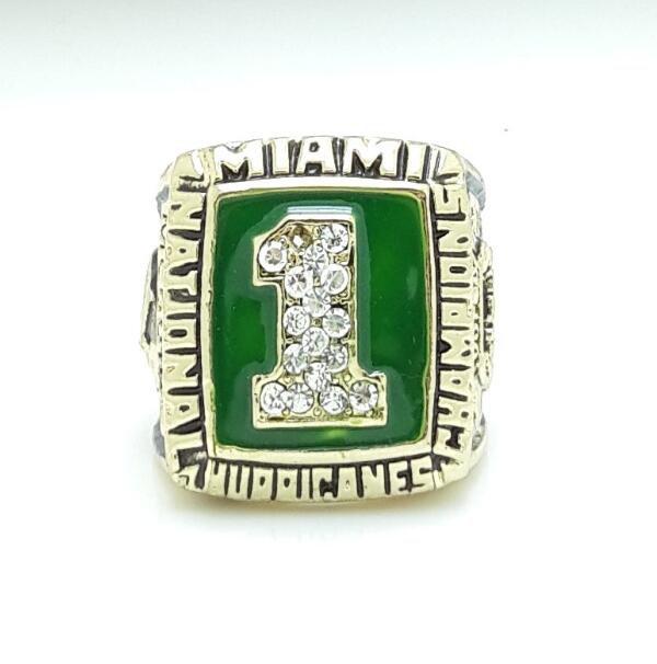 1989 Miami Hurricanes National Championship Ring size 11