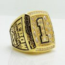 2008 Florida Gators NCAA National Championship ring 8-14S copper solid back
