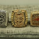 2013 Florida State Seminoles Orange Bowl +ACC+ BCS Championship Rings 3PCS size 8-14 US Back Solid