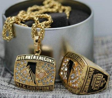 1998 Atlanta Falcons NFC National Football championship ring & Pendant Necklace