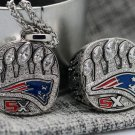 2016 2017 New England Patriots LI super bowl championship ring & Pendant Necklace 002