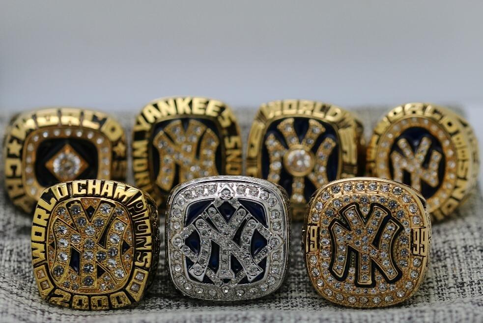 1977 1978 1996 1998 1999 2000 2009 New York Yankees Championship rings Size 12
