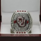 NCAA 2016 Oklahoma Sooners Big 12 National Football Championship Ring 8-14Size + Wooden Box