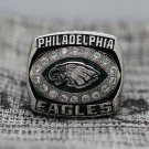 2004 Philadelphia Eagles NFC Football Championship ring 8-14 Size solid