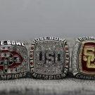 2007 2008 2009 University Southern California Trojans Rose Bowl Champions Rings Size 11 +Wooden Box