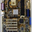 ASUS P4PE atx Motherboard package, Intel CPU and fan, manual & install disks, Sata adapter