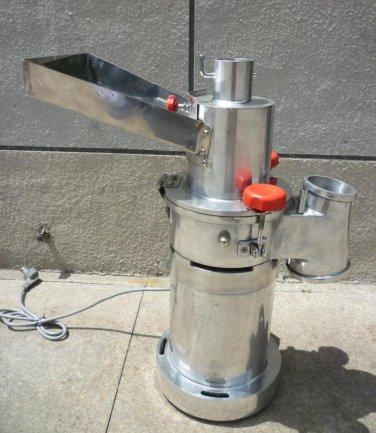30kg/h Automatic desktop continuous Hammer Mill Herb Grinder, pulverizer