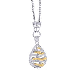 Royal Duet Sterling Silver & 14K Gold Necklace