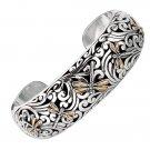 Phillip Gavriel-18K Pure Gold & Sterling Silver Dragonfly Bangle Cuff Bracelet  SILF3023