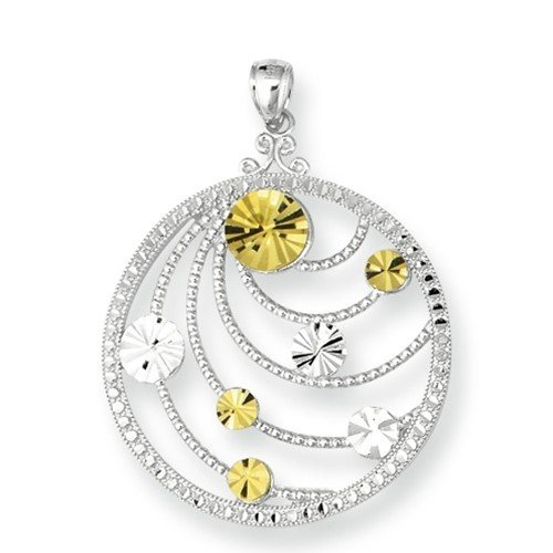 Royal Duet - Sterling Silver & 14K Gold Pendant rdp520