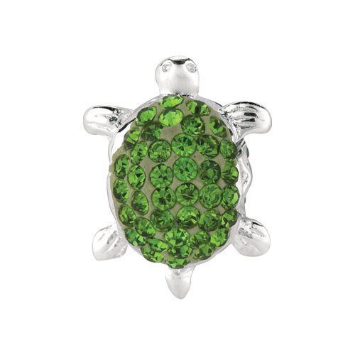 Personality green crystal turtle bead
