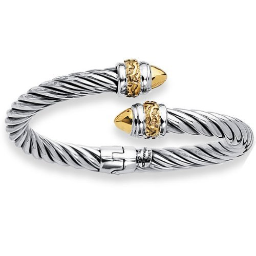 Phillip Gavriel 18k Gold & Sterling Silver Collection Hinged Bangle