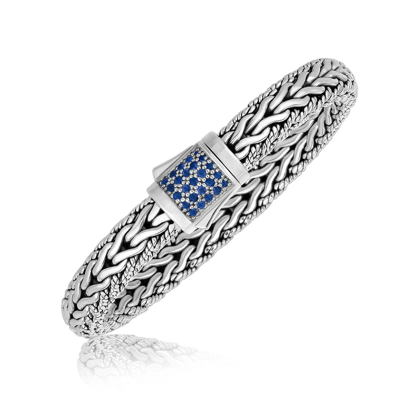 Phillip Gavriel Silver Blue Sapphire bracelet - 71/2 inch