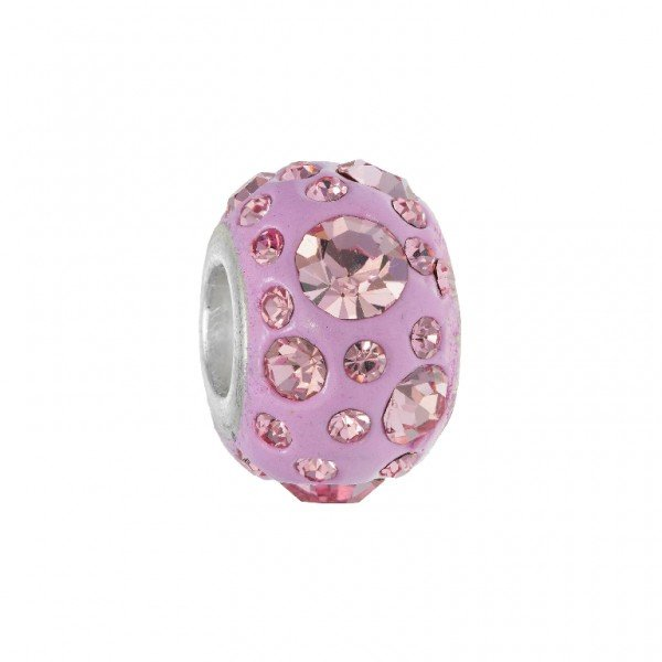 Personality various size round pink crystalson pink elliptical kaleidoscope bead