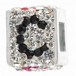"""Personality jewelry collection Red+Blue+White Crystal Inital """"C"""" Cube Bead"""