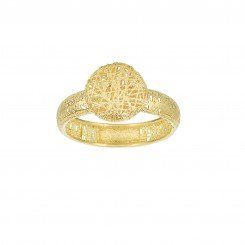 Stil Novo 14kt Yellow Gold Textured Fancy Ring with Puffed Circle Top size 7