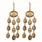 Phillip Gavriel Sterling Silver Rose Finish Drop Earring with Oval Shape Smoky Quartz