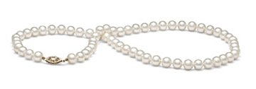 AAA Quality Round 6.5-7mm White Pearl Strand Necklace