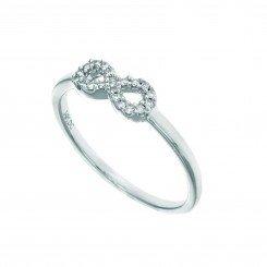 "14k White Gold ""Infinity"" Diamond Ring"