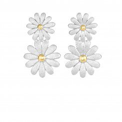 Two Tone Graduated 2 Flower Fancy Post Earrings