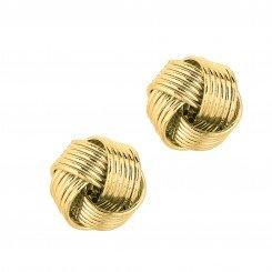 14kt Yellow Gold Shiny 6 row Love Knot Earring