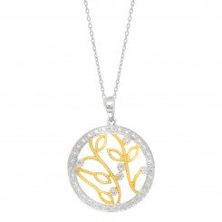 Silver with Rhodium Yellow and silver Finish Leaf & Branch pendant