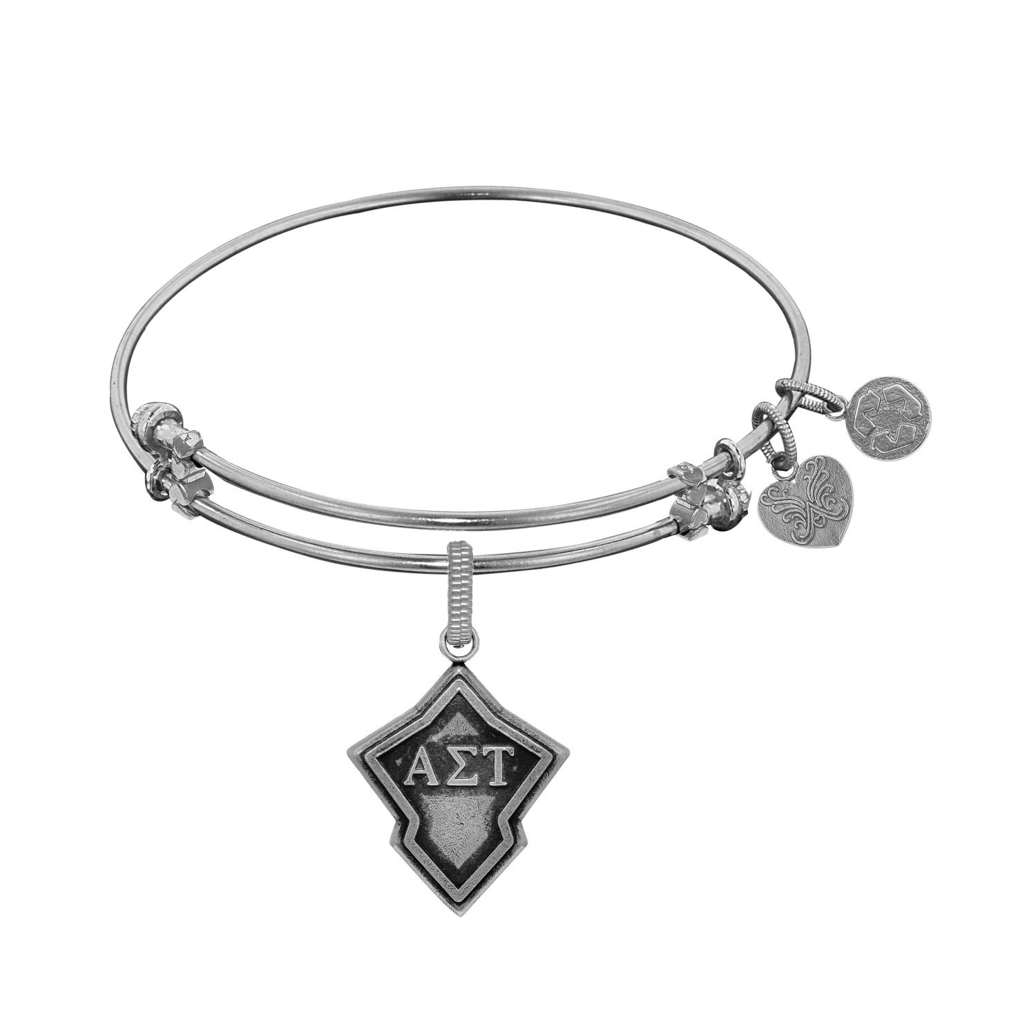 Angelica jewelry Collection Alpha Sigma Tau bracelet with white finish