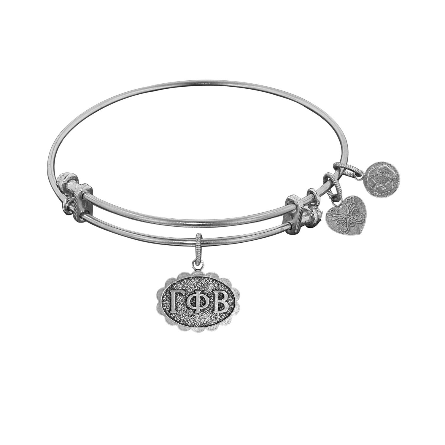 Angelica jewelry Collection Gamma Phi Beta bracelet with white finished brass