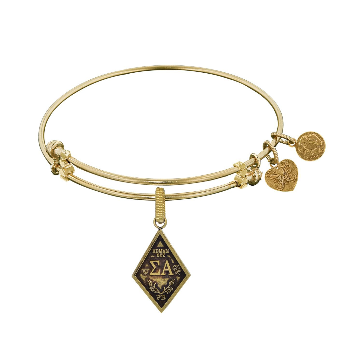 Angelica jewelry Collection Sigma Alpha Bracelet with yellow finished brass