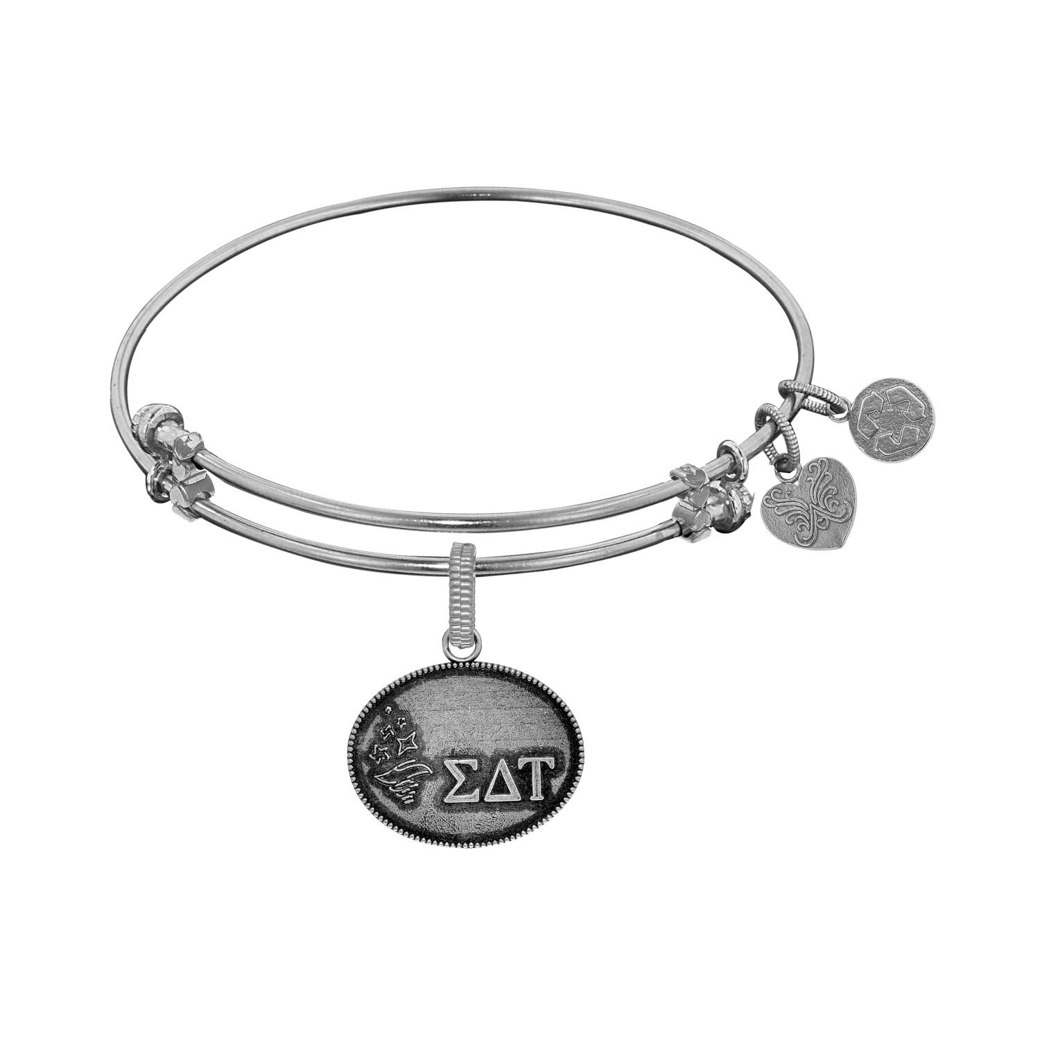 Angelica jewelry Collection Brass with White Finish Sigma Delta Tau Charm For Angelica Bangle