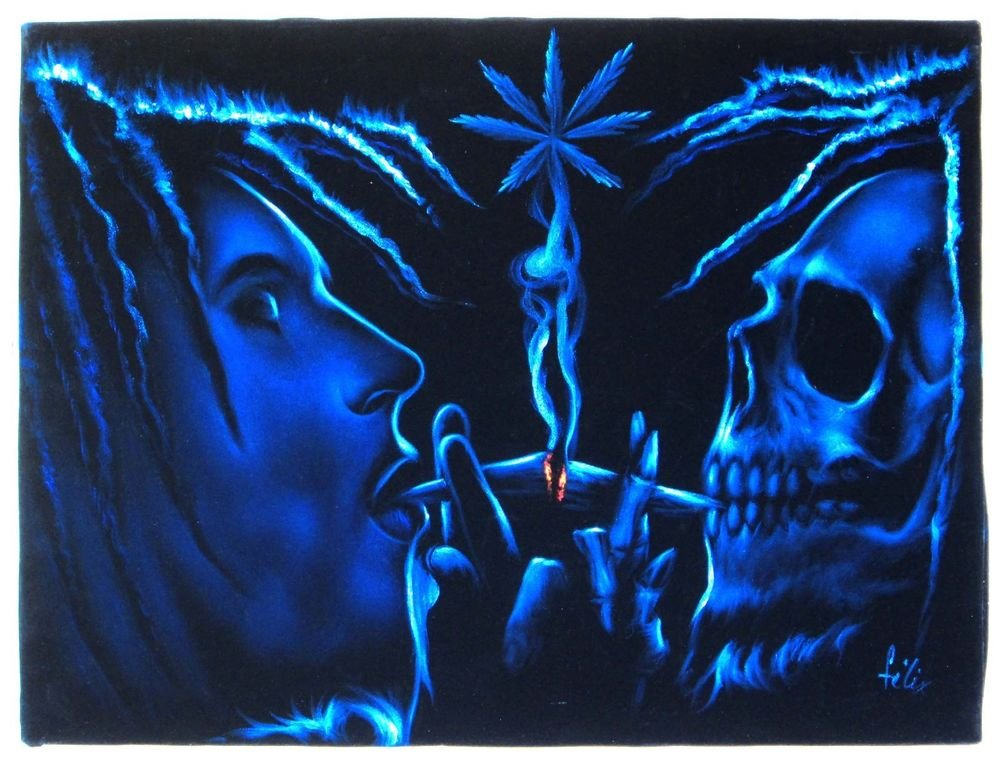 Skull Smoking Weed Drawing Bob Marley Skull Smoke Weed