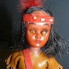 Vintage Hongkong Made Indian Plastic Doll