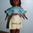 """Vintage Hongkong Made Indian Plastic Lady Doll with two kids at its back 7 1/2"""""""