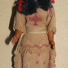 Vintage Hongkong Made Indian Plastic Lady Doll with Baby at its back 7 1/2""
