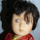 """Vintage Porcelain & Stuff Cloth Japanese Girl Doll 11"""""""