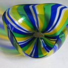 Vintage Murano Glass Lafornasotta Italy Vetro Artistico Art Glass Ribbon Bowl
