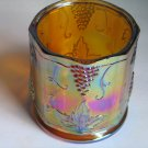 Vintage Amber Carnival Glass Canister Biscuit Jar Bottom Only