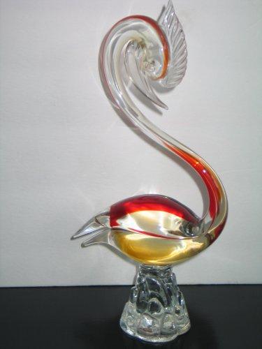 Vintage Mid Century Murano Art Glass Bird