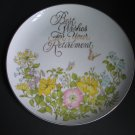 Vintage Best Wishes For Your Retirement Collectors Plate Porcelain Hand Crafted in Japan B-810