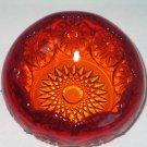 Vintage Indiana Glass Tiara Amberina Large Rose Bowl