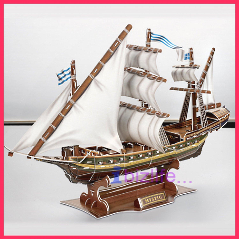 MISTCQUE France Warship 3D Puzzle set Calebou 2803-F 125 pcs DIY Jigsaw model as gift