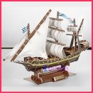 MISTCQUE France Warship 3D Puzzle set Calebou 2803-F 125 pcs DIY Jigsaw model as gift